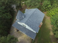 rooftop view of gray shingle roof